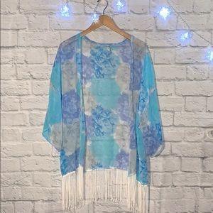 Paradise blue kimono